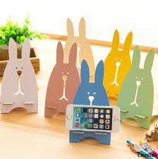 10pcs/lot children party favor rabbit DIY <b>Multifunction wooden</b> Phone ...