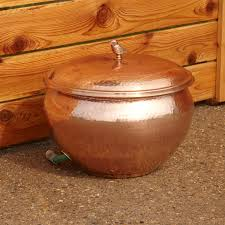 garden hose pot with lid. Hammered Polished Copper Hose Pot With Lid - Outdoor Handcrafted From Solid Copper, This And Features A Beautiful Finish Is Topped Garden N