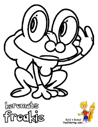 Froakie pokemon coloring pages by cameron