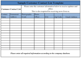 client contact list template client list template under fontanacountryinn com