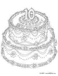 Small Picture Birthday cake 10 years coloring pages Hellokidscom