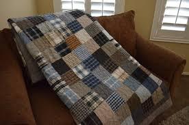 Quilt Men's Plaid Dress Shirt Quilt RePurpose ReCycle Gray & Like this item? Adamdwight.com