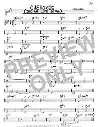 cherokee sheet music cherokee indian love song sheet music direct