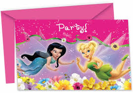 Tinkerbell Invitation 6 Invitation Cards With Envelopes For Theme Parties
