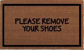 Doormat please remove shoes doormat images : Franklin & Figg