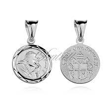 silver 925 pendant saint pope john paul ii