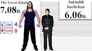 The Great Khali Height Comparison To Other 35 Bollywood And