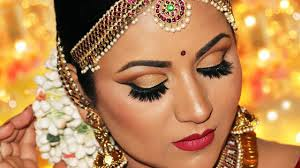 step by step south indian bridal makeup antique gold cut crease