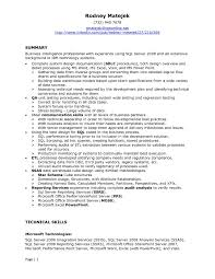 Sql Resume Example Sql Server Developer Resume Examples Examples of Resumes 5