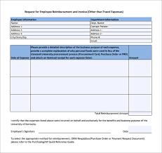 employee expense reimbursement form sample expense reimbursement form 8 download free documents in pdf