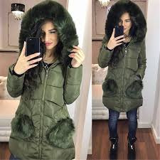 fashion winter jacket women solid fur collar down long coat slim parka coats womens down jackets