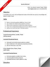 Licensed Vocational Nurse (LVN) Resume Sample