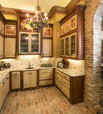 Brick Kitchen Floors Brick Floor Kitchen Kitchen With None Beeyoutifullifecom