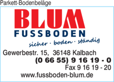 The business report also list branches and affiliates in germany. Parkett Bodenbelage Blum In Kalbach In Das Ortliche