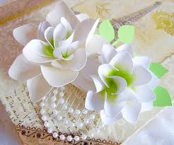 paper flower tutorial white lily you