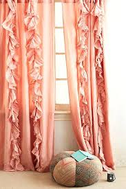 peach curtains blooming dahlia salmon pink c navy and mint