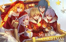 Wallpaper new year, Christmas, anime ...