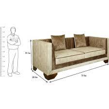 alliston solid wood three seater sofa