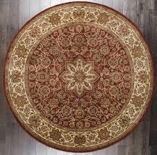 rugsville persian classic mahal oriental rust beige fl round rug 244x244