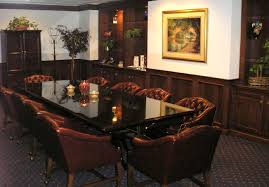 conference room table ideas. Charming Pictures Of Conference Rooms Interior Design Ideas : Lovely Brown Velvet Armchairs And Rectangular Black Room Table