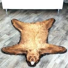 bear skin rug faux with head fake blanket medium size of 5 foot brown rugs for