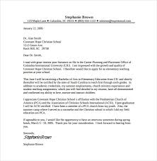 8 Teacher Cover Letter Templates Free Sample Example Format