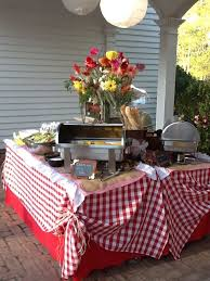 BBQ Barbecue Wedding Rehearsal Dinner. Rehearsal Dinner at the Botanical  Gardens, Columbus GA Low  Country Table DecorationsBbq ...
