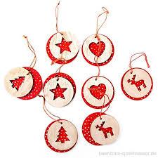 8 Kleine Runde Rot Weiß Gepunktete Weihnachts Anhänger 6 Cm