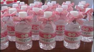 Decorating Water Bottles For Baby Shower babyshowerdecorationideasforgirldiybabyshowerdecoration 5