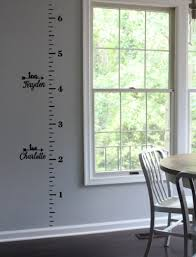 childrens ruler growth height chart with numbers inch marks vinyl wall decal amys wallsticker world madeit com au