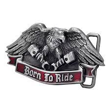 Buy Buckle Rage Men's <b>Born</b> To Ride Eagle Motorcycle Engine ...