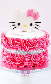 Ruffled Roses Hello Kitty Cake Iris Select Goa Free Delivery