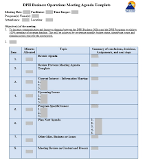 Business Schedule Template Free Business Operations Meeting Schedule Template