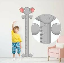 Elephant Height Chart Sticker Bedroom Wall Art Boy Girl Baby Decal Graphic Room Ebay