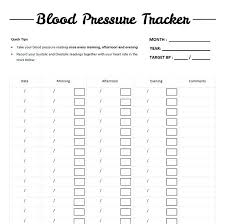 bp log blood pressure log noshot info