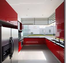 Kitchen Red And White Kitchen Awesome White Black Wood Glass Modern Design White