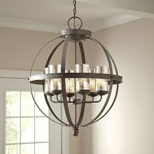 chandeliers for foyer beautiful modern 6 light globe chandelier orb pendant lighting glass shades