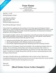Real Estate Assistant Cover Letter Sample Real Cover Letter Examples