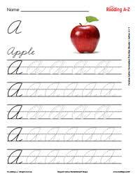 Writing Cursive Reading A Z Reading A Z