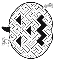 Halloween Pumpkin Maze Printable Coloring Pages Coloring