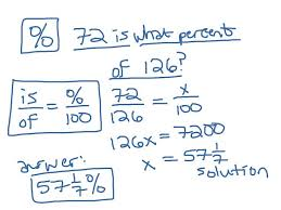 how to solve percent problems using proportions including the hard part setting up the