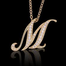 popular a necklace m silver bank original pendant charm top chain k18 coated accessories gold pink white gd pg wg popular s initials alphabet