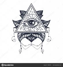 лотос татуировки глаз на Lotus татуировки векторное изображение