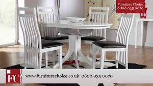 furniture choice. hudson white round extending dining table from furniture choice - youtube