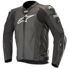 alpinestars missile leather jacket black