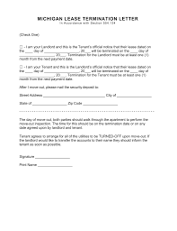 30 day notice to landlord form michigan lease termination letter form 30 day notice eforms with end