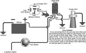 how to wire 12 volt oooga horn hot rod forum hotrodders Bosch Horn Relay Wiring Diagram click image for larger version name ooga jpg views 36532 size 28 8 7-Way Trailer Plug Wiring Diagram