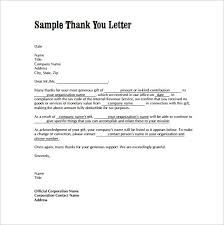 Thank You Letter Format