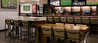 hilton chicago o hare airport hotel il sports edition bar tables