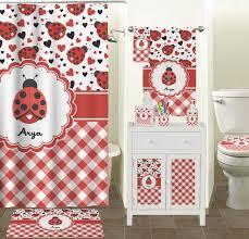 Ladybug Bathroom Accessories Ladybugs Gingham Bathroom Accessories Set Personalized Potty
